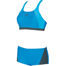 arena Rem Two-Pieces Swimsuit Women pix blue-shadow grey-turquoise